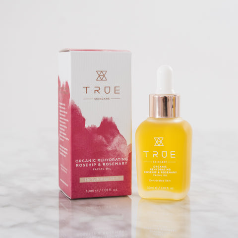 TRUE Skincare Organic Rehydrating Rosehip & Rosemary Facial Oil for Dehydrated Skin