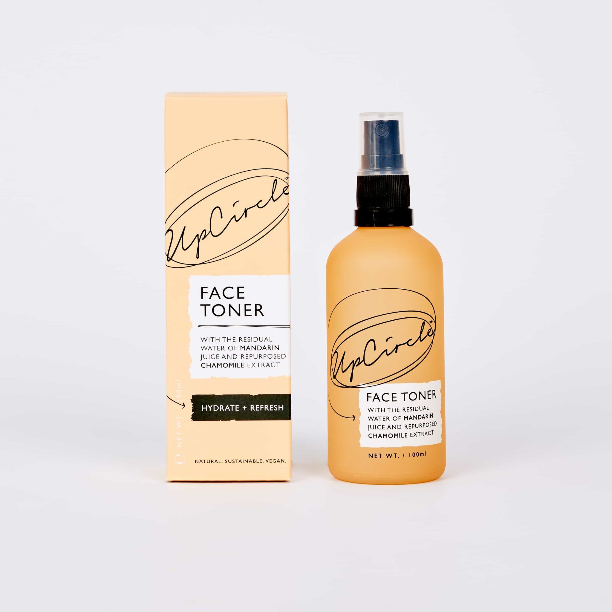 UpCircle Face Toner with Mandarin and Chamomile - Best Toner for Dry Skin