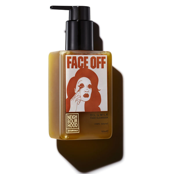Face Off Facial Cleanser by Neighbourhood Botanicals - Best Vegan Face Cleanser to Remove Makeup, Oil and Pollution