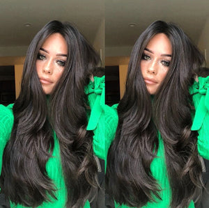 LONG BLACK WAVE WIG
