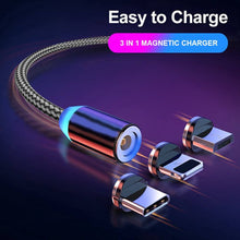 Load image into Gallery viewer, 3 IN 1 MAGNETIC CHARGING CABLE