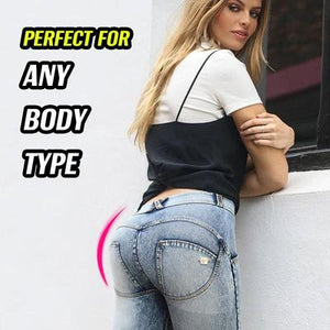 Perfect Bottom Waist-Slimming High Elastic Jeans