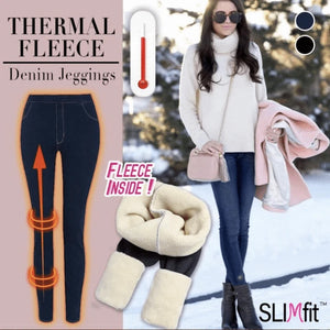 Thermal Fleece Denim Jeggings