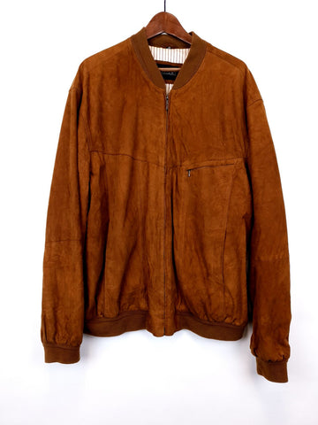 Bomber Ante Marrón/ Suede Leather Jacket