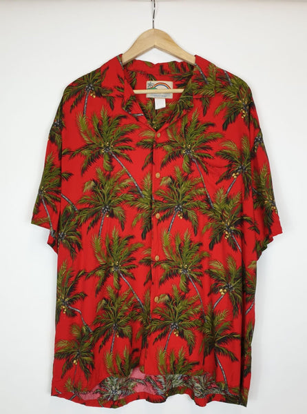 Camisa Hawaii Roja XL