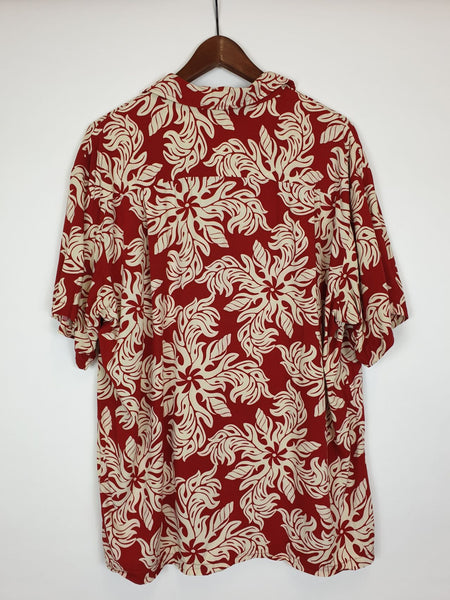 Camisa Hawaii Rojo y Blanco L