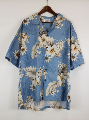 Camisa Hawaii Celeste XL