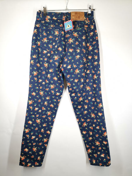 Mom Jeans Print Flores / Talla 38