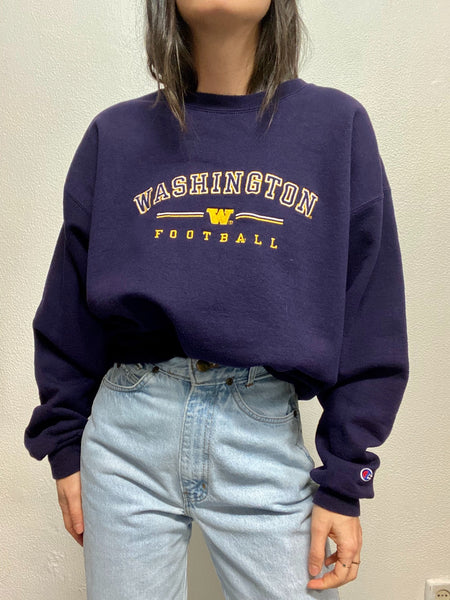 Sudadera Morada Bordado WASHINGTON FOOTBALL / Talla L
