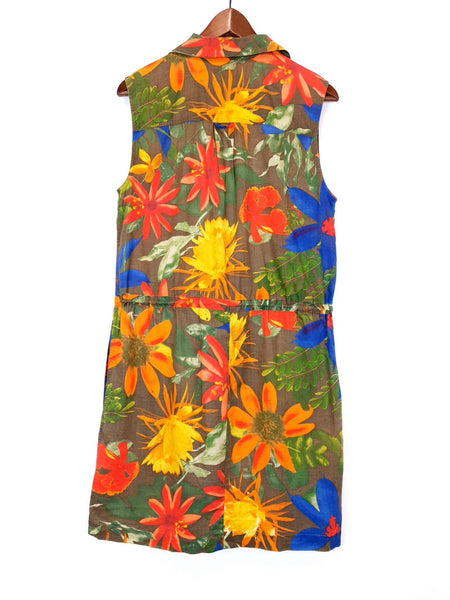 Vestido Corto Verano Flores Talla M / Short Summer Dress