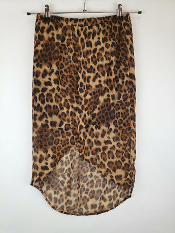 Falda Animal Print Leopardo / Talla S