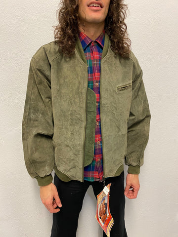 Bomber Ante Verde / Suede Leather Jacket