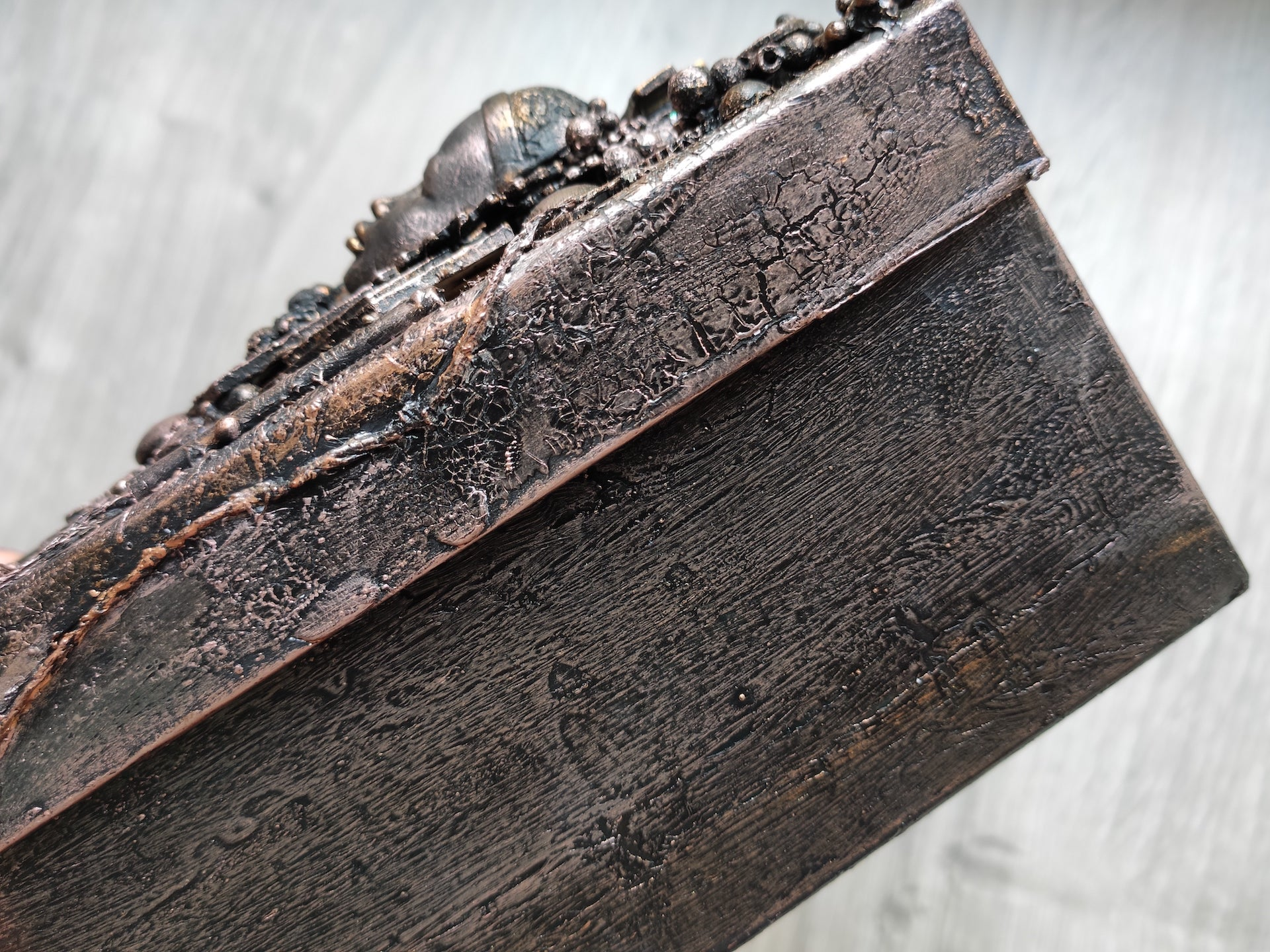 Handmade mixed media gift box- Steampunk/Industrial