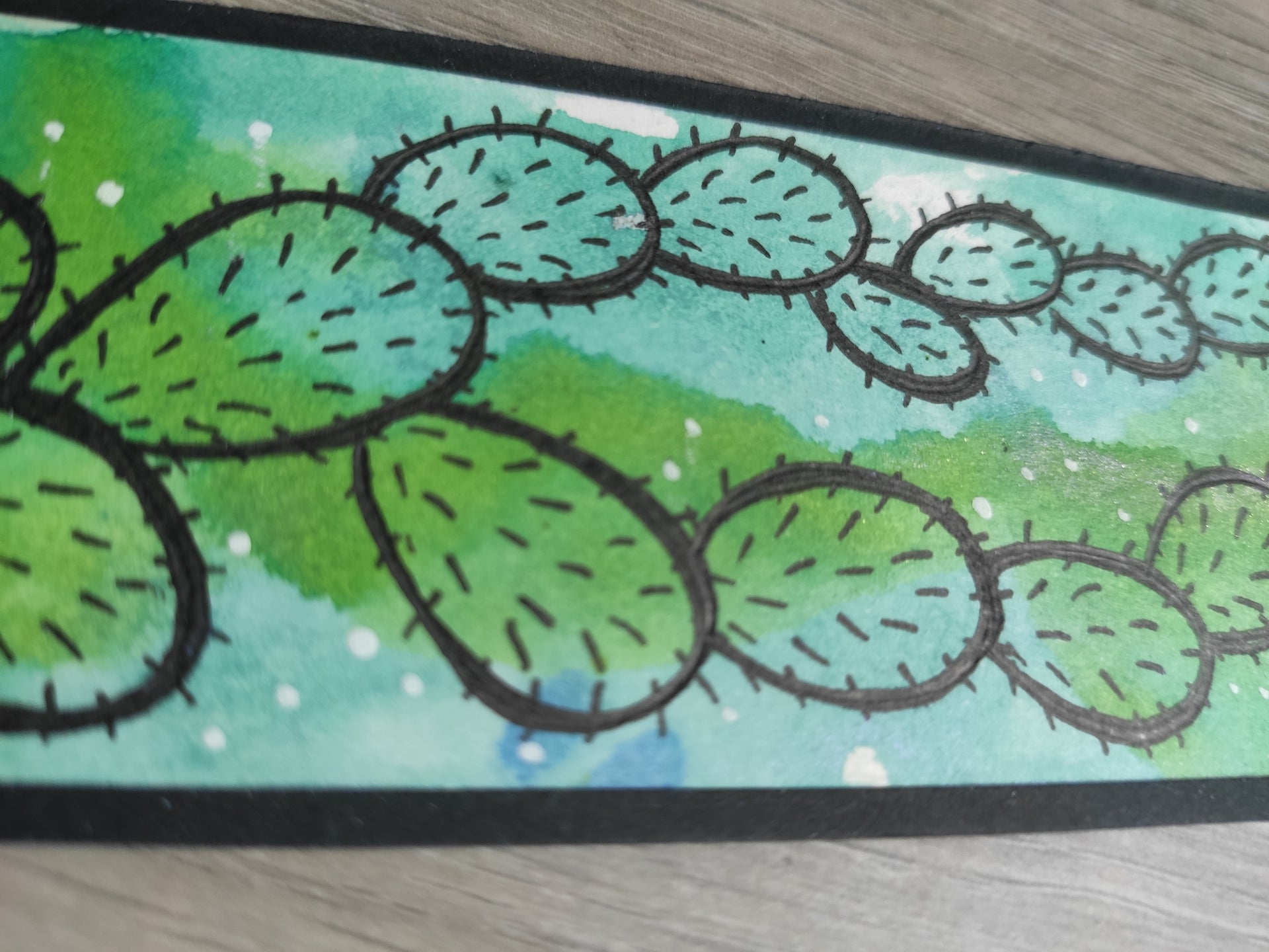 Handmade bookmarks with doodles, set 7