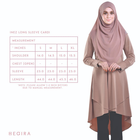 HEGIRA | SIZE MEASUREMENT INEZ