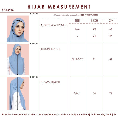 SIZE GUIDE SO-LAYSA