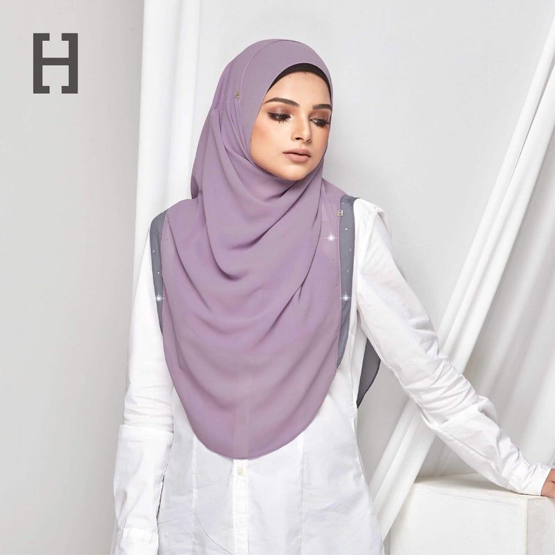 HEGIRA | CHARMINGLY-SO PLAIN WITH SWAROVSKI HEATHER WISTERIA