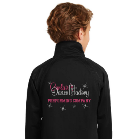 Carla's Dance Factory Youth Girls Sport Tek Track Jacket