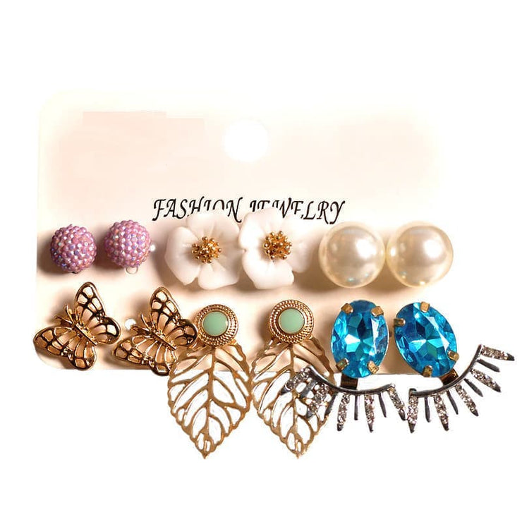 Party Stud Fashion Jewelry Earring Set