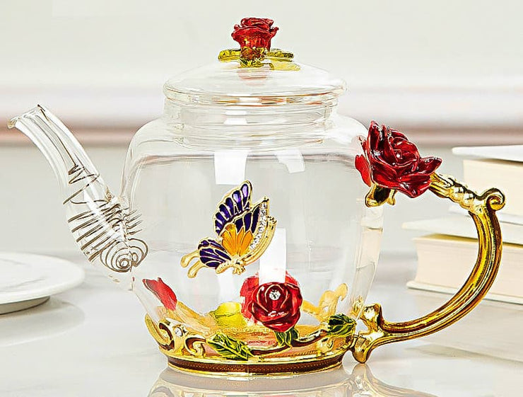Crystal Rose Teapot