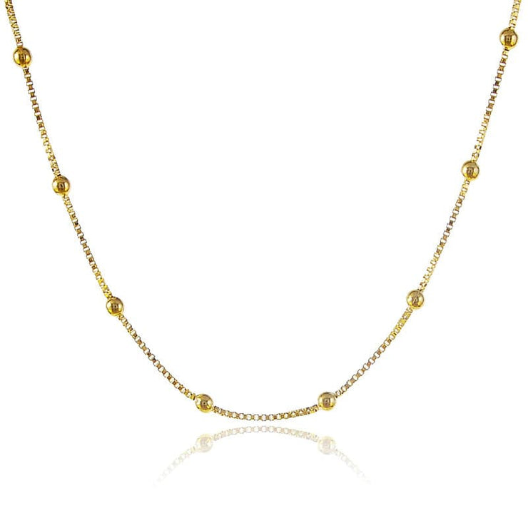 Grace Gold Bead Necklace