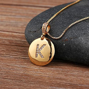 Dainty Gold Initial Personalized Necklace