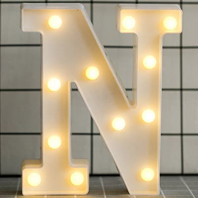 Creative LED Marquee Letter & Number Night Lights