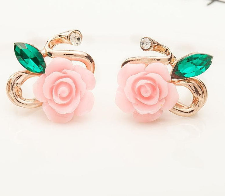 Korean Rose Flower Earring