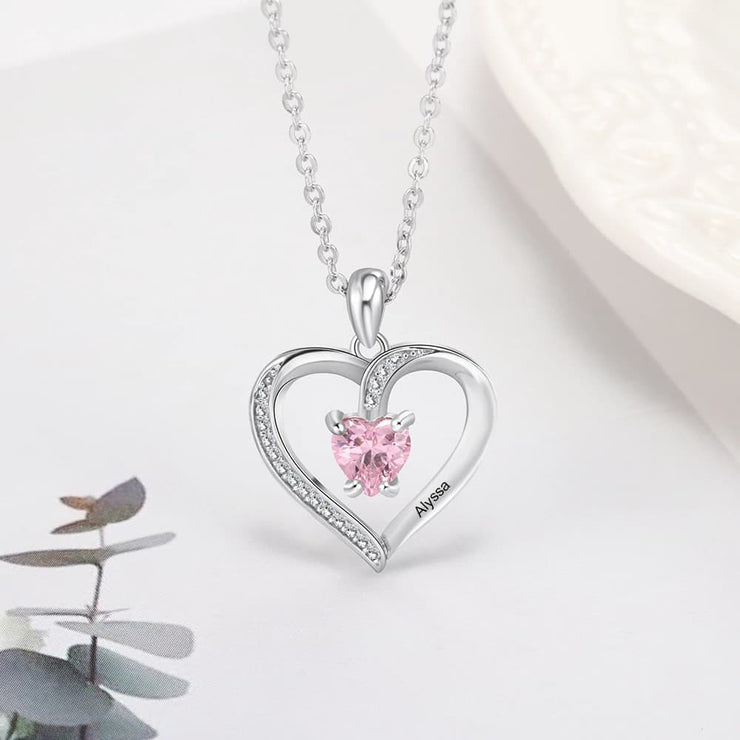 Heart Pendant Personalized Necklace