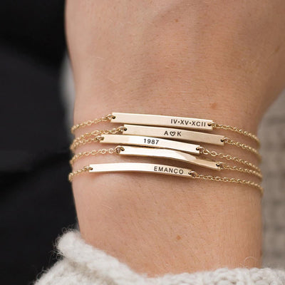 Personal Note Bracelet with Free Engraving