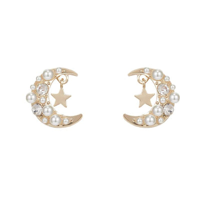 Plouffe Pearl Moon Earrings