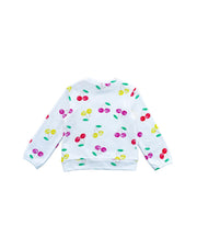 Sweatshirt con estampado de cerezas
