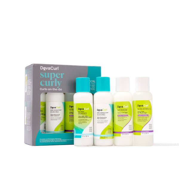 DevaCurl Super Curly Curls-On-The-Go box and individual bottles version 1