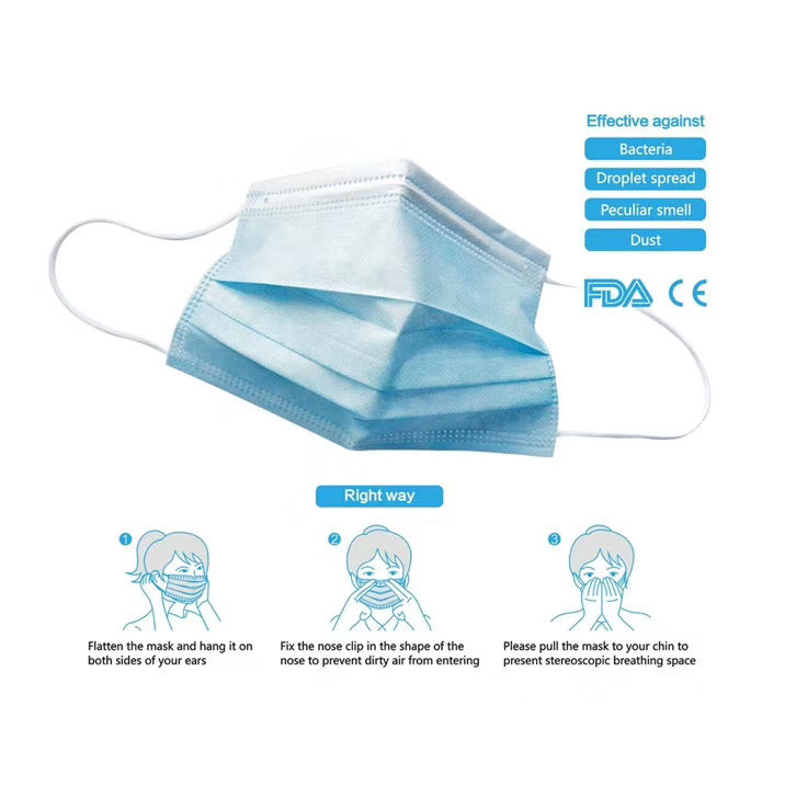 3 Ply Disposable Earloop Mask