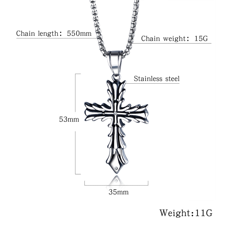 Necklace - NL-GX1485, Cross Necklace