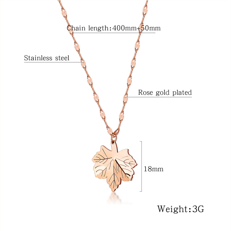 Necklace, NL-GX1564, Ladies Maple Leaf Necklace