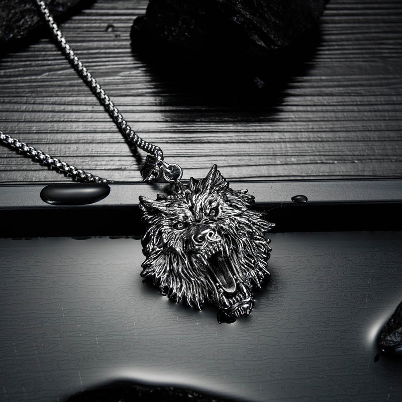 Necklace ,NL-GX1600, Wolf Head Necklace
