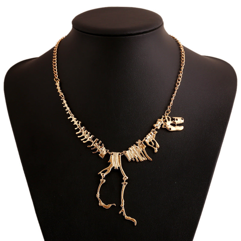 Necklace, NL-T540, Dinosaur Skeleton Necklace