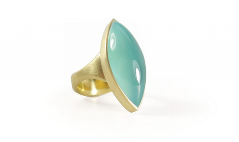 18k & Aquaprase™️ ring by Lola Brooks