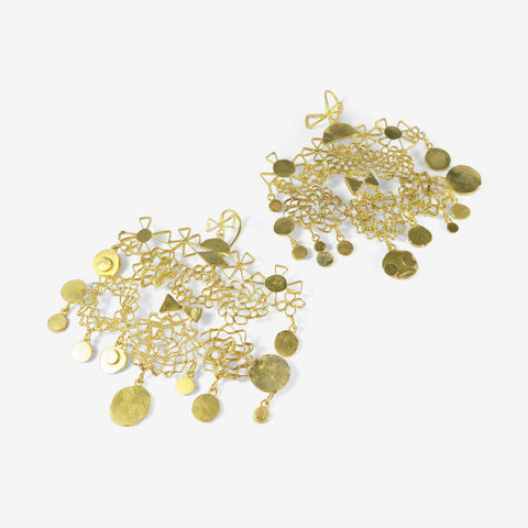 JUDY GEIB 18K STUDIO SWEEP EARRINGS