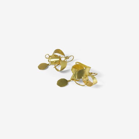 JUDY GEIB 18K WILD TANGLED EARRINGS WITH SQUASH DROPS