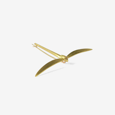 GABRIELLA KISS 18K MEDIUM DAMSELFLY PIN