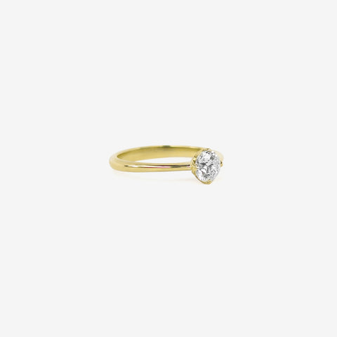 NICOLE LANDAW 14K & OLD EUROPEAN CUT SOLITAIRE DIAMOND RING, 0.68CT