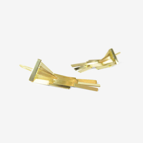 SIA TAYLOR 18K GOLD RAINFALL EARRINGS