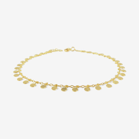 SIA TAYLOR 18K YELLOW GOLD EVENLY DOTTED BRACELET