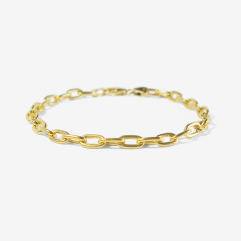 STEPHANIE WINDSOR VINTAGE 14K SOLID LARGE OVAL LINK BRACELET, 7""