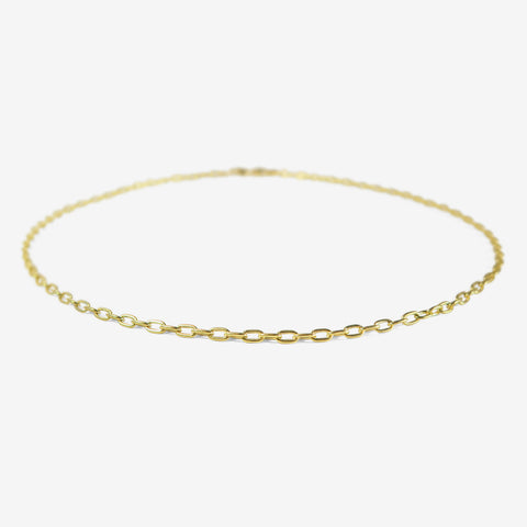 STEPHANIE WINDSOR VINTAGE 14K SOLID SMALL OVAL LINK CHAIN, 18""