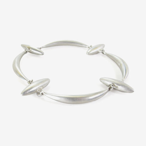 TED MUEHLING STERLING SILVER CROSS BRACELET
