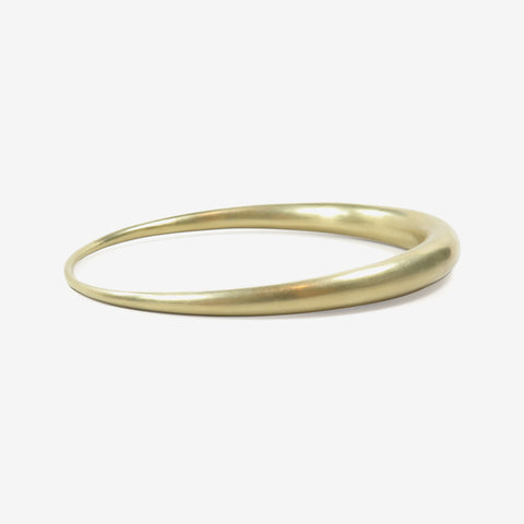 TED MUEHLING 14K OVAL BANGLE