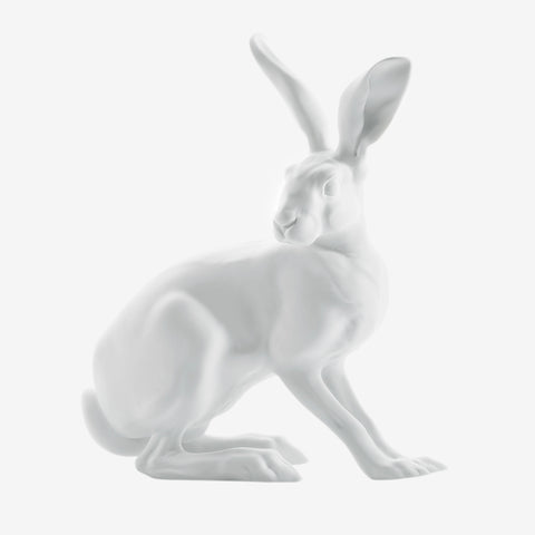 NYMPHENBURG WHITE BISQUE PORCELAIN HARE